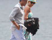 George Clooney and his girlfriend, Stacy Keibler