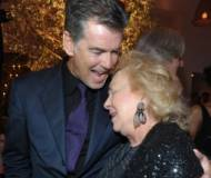 Actor Pierce Brosnan and actress Doris Roberts