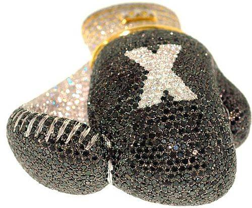 diamond encrusted boxing gloves