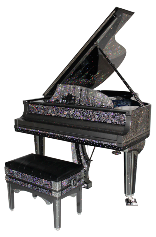 Steinway & Sons: $1 Million Jeweled Piano