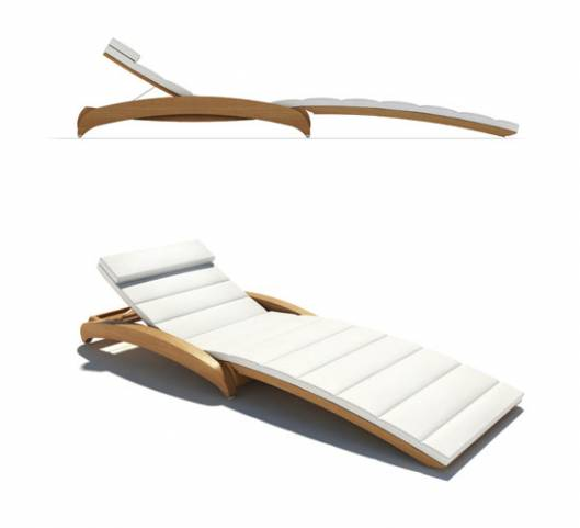 A folding sun lounger by Stephen Huish Yacht design
