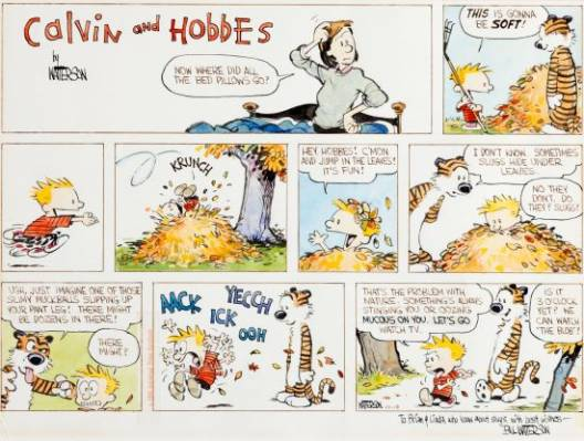 The first Calvin and Hobbes comic strip ever to be offered at public auction