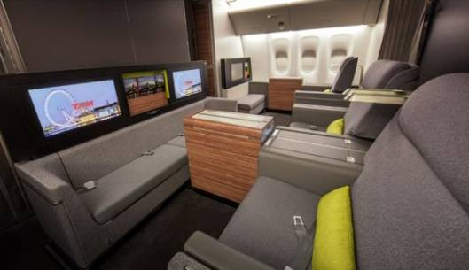 Brazil's TAM Airlines First Class Cabin is by far the most luxurious cabin in the sky