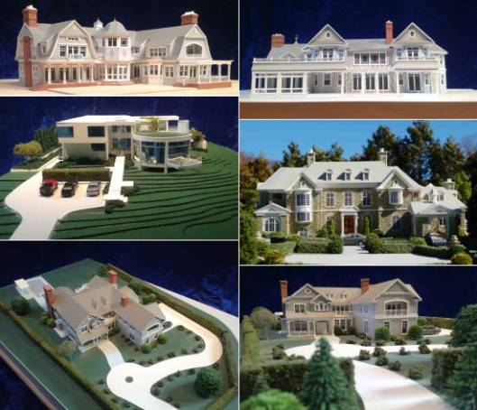 Gary Lawrance's Architectural House Models can be used as presentation pieces to be appreciated as art works