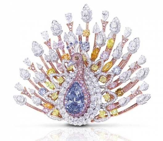 Graff Diamonds to Unveil 120-Carat Peacock Brooch Priced At $100 Million