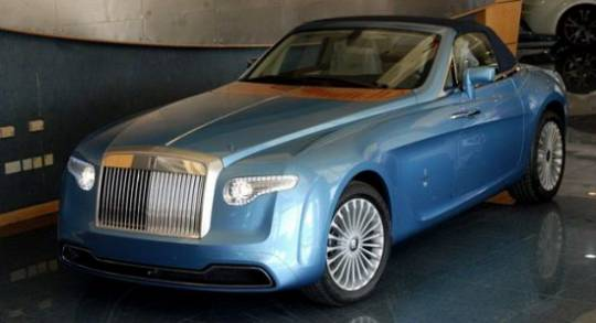 Custom Pininfarina Hyperion derived from the Rolls-Royce Drophead Coupe