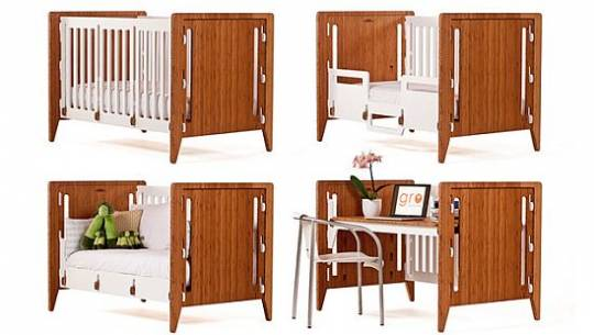 Gro Furniture modular baby crib