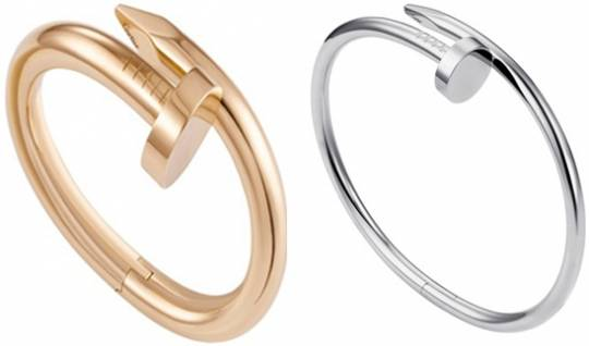 Cartier nailed it with an assortment of bracelet and ring finger