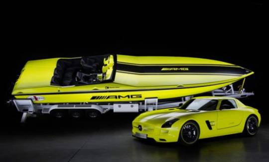 Cigarette AMG Electric Drive Concept is Powerful & Fastest Electric Drive Powerboat Electrified by Mercedes-AMG
