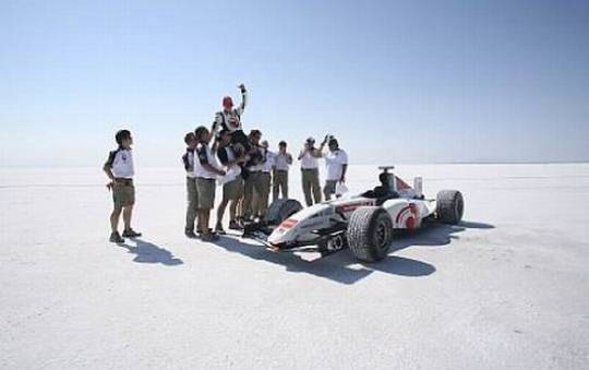 formula 1 world land speed record honda car bonnev