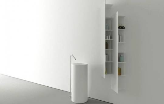 The modular shelving system, called CTline, is based on Mr. Vasilev's interpretation of the New York City skyline.