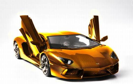 Lamborghini Aventador gold version