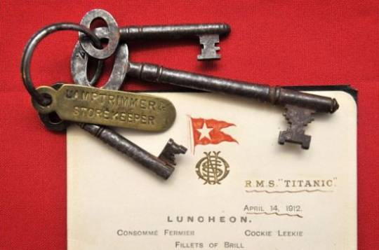 Set of keys used by Titanic crewman