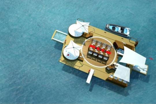 Recreational floating island by Henry Ward and BMT Group