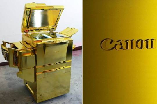 Gold painted Canon 2011 copier