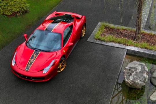 458 Italia Chinese golden dragon-edition