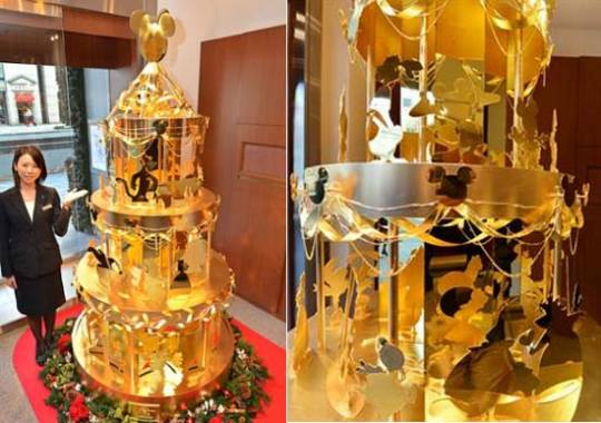 Ginza Tanaka's latest $4.2m Disney Gold Christmas Tree for 2012