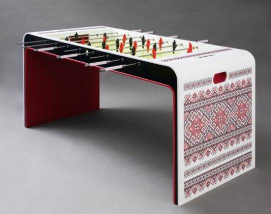 Yaroslav Galant Embroidered football table for the tasteful homes