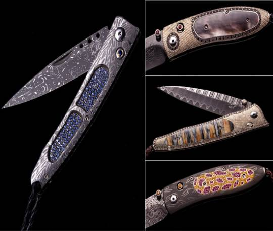 William Henry bejeweled knives