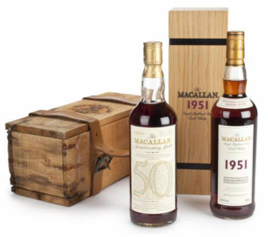 1951 Macallan Whisky bottle which commanded over $40,000 at the auction