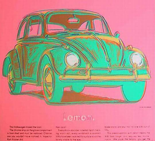 Andy Warhol's Bettle 'Lemon'