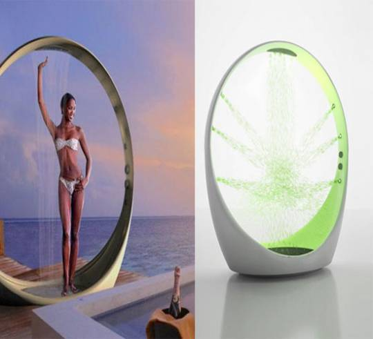 Multi-sensory Outdoor Shower System LOOP by Idiha Design