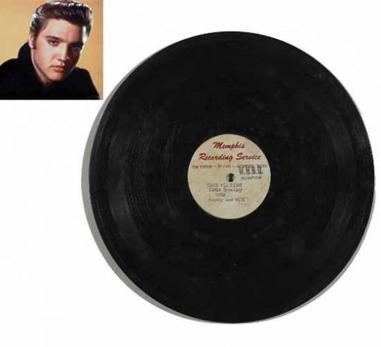 Elvis Presley's 'Thats All Right (Mama)' record