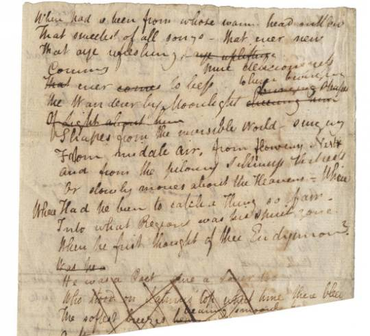 John Keats' writings from 'I stood tiptoe on a little hill'