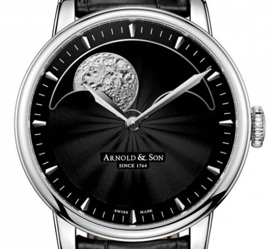 Arnold & Son HM Perpetual Moon watch with one of the largest moon-phase dials in the market