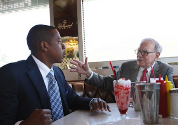 Jay Z with Warren Buffet,