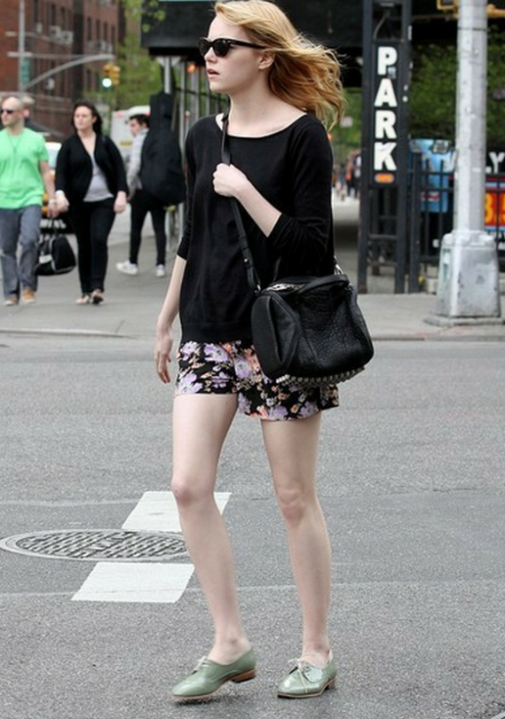 Emma Stone has been spotted flaunting this high end designer Alexander Wang Rocco Mini Duffle frequently
