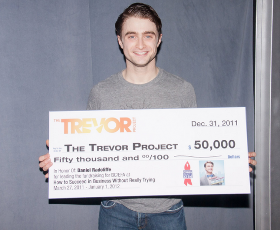 Daniel Radcliffe supports to The Trevor Project