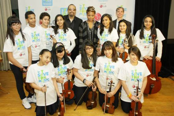 Venus Williams supports the efforts of Save The Music Foundation including famous celebrities Ice T and Chrisette Michele.