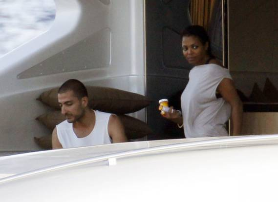 Janet Jackson was spotted in Porto Cervo in July 2012 with her boyfriend Wissam Al Mana providing company.