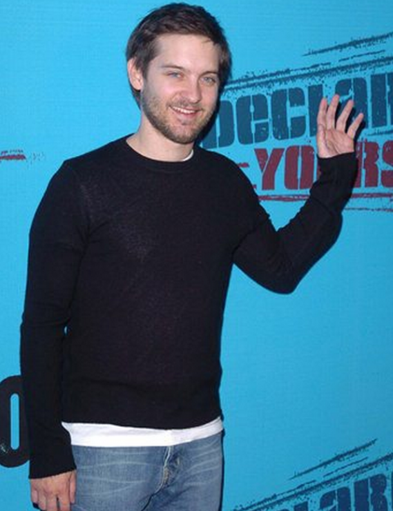 Tobey Maguire supports Declare Yourself , a non-profit national non-partisan campaign.
