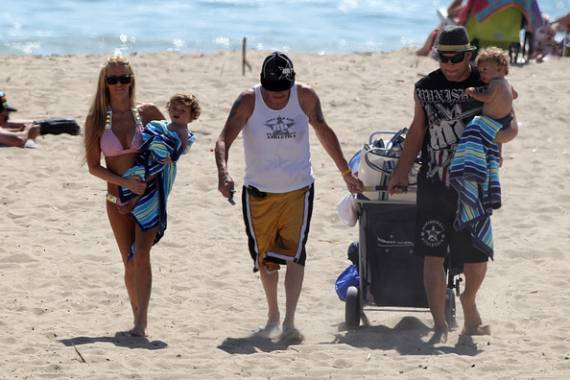 Jenna Jameson was seen holidaying with her husband Tito Ortiz