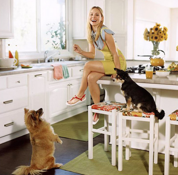 Kristen Bell in her beautiful Hollywood Hills Home