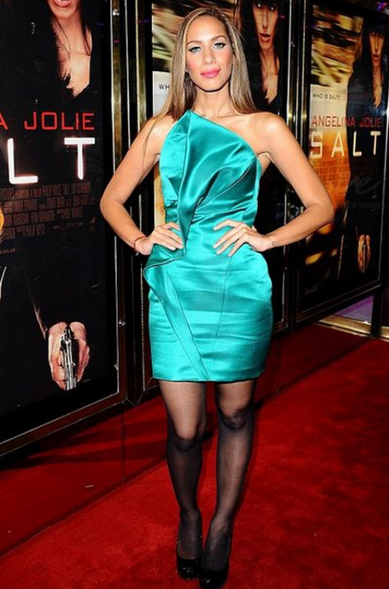 "The singer flaunted her Mini dress to the London premiere of the movie ""'Salt"" in August 2010."