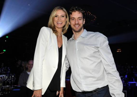 Heidi Klum and Pau Gasol attends the UNICEF Playlist With The A-List program