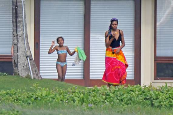 Michelle Obama on vacations in Hawaii