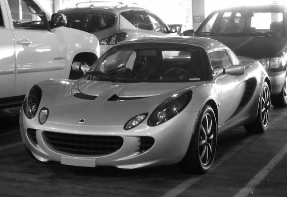 Lotus Elise car - Color: Silver  // Description: amazing