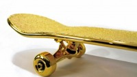 World's most expensive skateboard is coated with gold