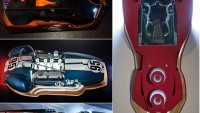 Artist turns supercars into illuminated art