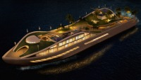 MCM DesignStudio's new floating mega-yacht is nomadic island concept