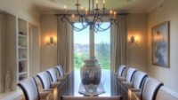 The expansive dining room