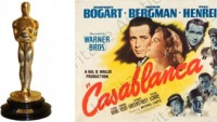 Casablanca movie poster and Best Director Oscar for sale