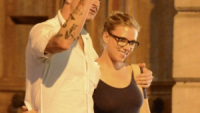 Scarlett Johansson in the arms of Nate Naylor