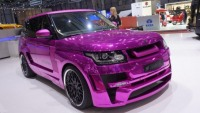 Chrome Pink Range Rover Mystère by Hamann debuts at the 2013 Geneva Auto Show