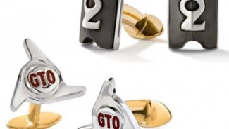 Cufflinks made from parts of vintage cars and super aeroplanes