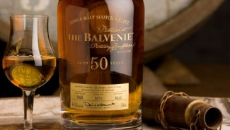 The Balvenie Fifty single malt Scotch whisky marks Malt Master David Stewart's 50th year at he Balvenie Distillery